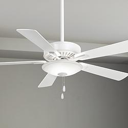 "52"" Minka Aire Contractor Uni-Pack White LED Ceiling Fan"