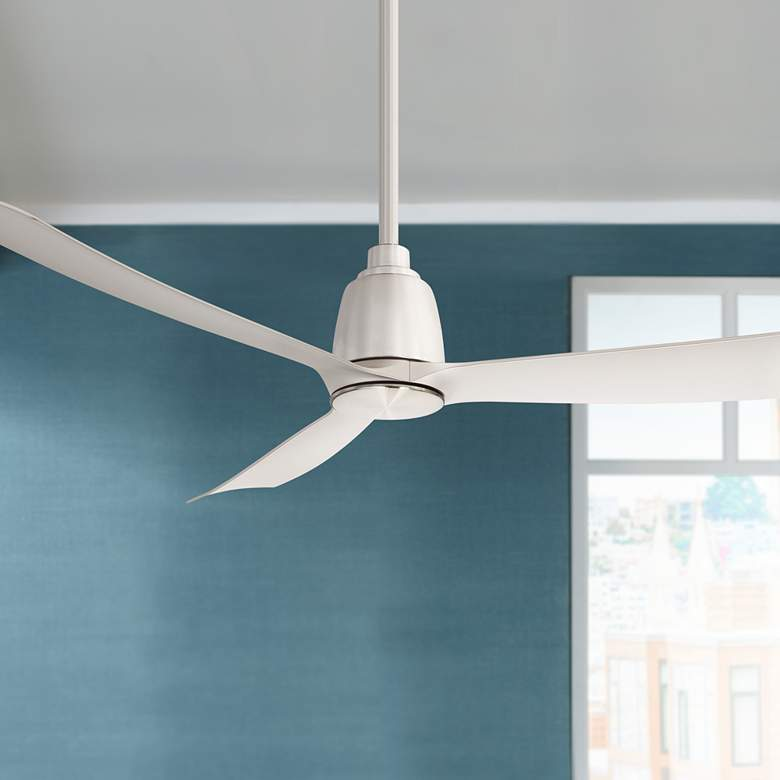 "52"" Fanimation Kute Brushed Nickel Damp Rated Ceiling Fan"