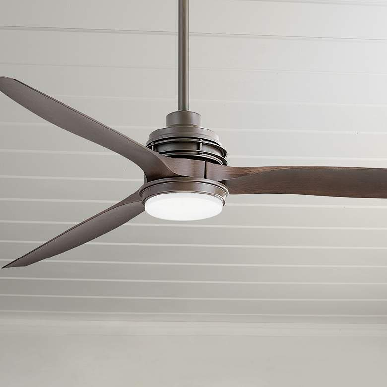 "60"" Hinkley Artiste Matte Bronze LED Wet-Rated Ceiling Fan"