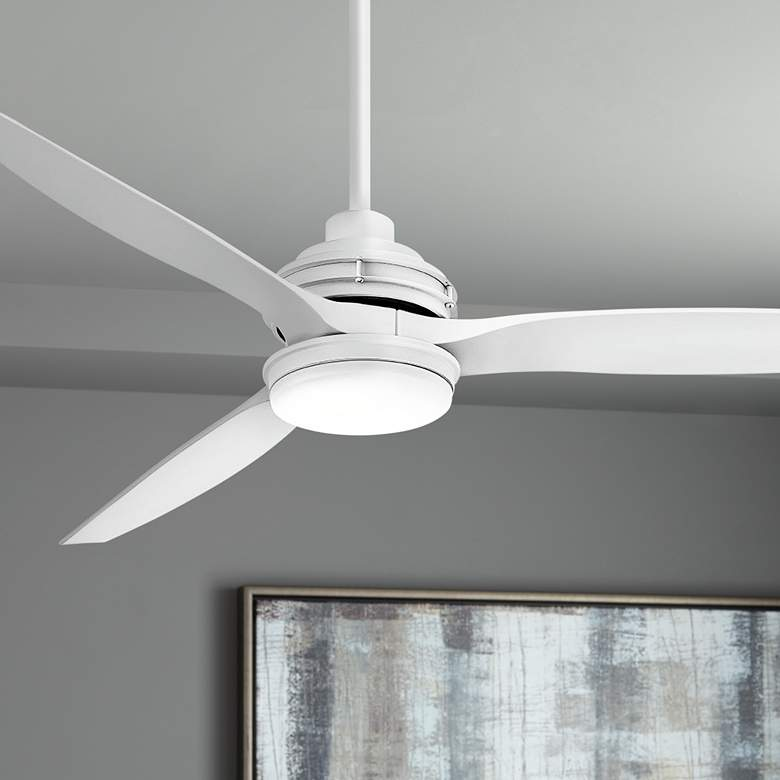 "60"" Hinkley Artiste Matte White LED Wet-Rated Ceiling Fan"