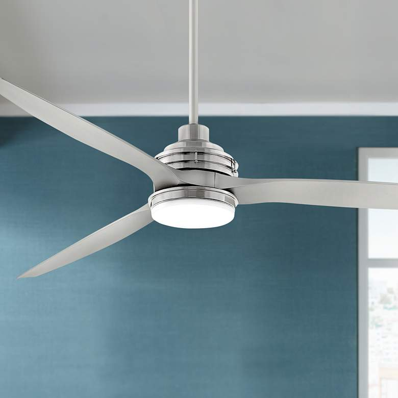 "72"" Hinkley Artiste Brushed Nickel LED Wet-Rated Ceiling Fan"