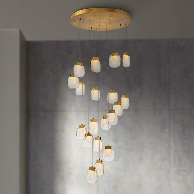 "Eurofase Paget 28 3/4"" Wide Gold LED Multi-Light Pendant"