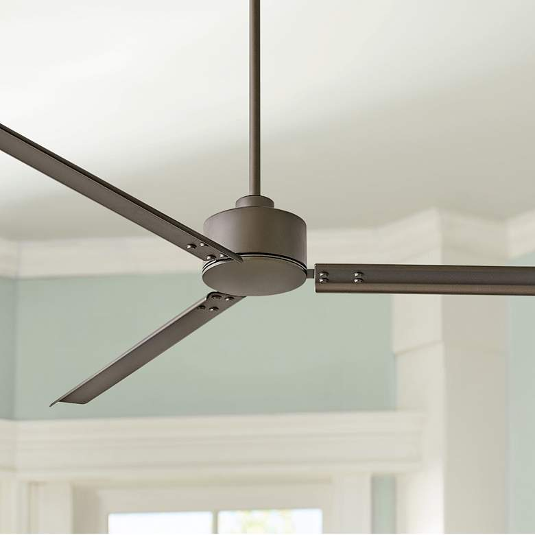 "72"" Hinkley Indy Metallic Matte Bronze Wet Ceiling Fan"