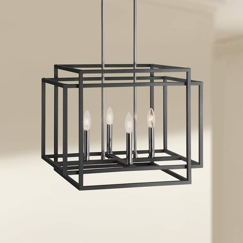Uttermost Quadrangle Black 4-Light Pendant Light
