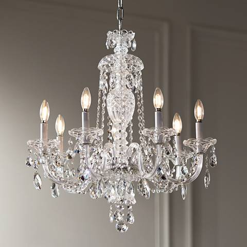 "Schonbek Sterling 25"" Wide Heritage Crystal Chandelier"