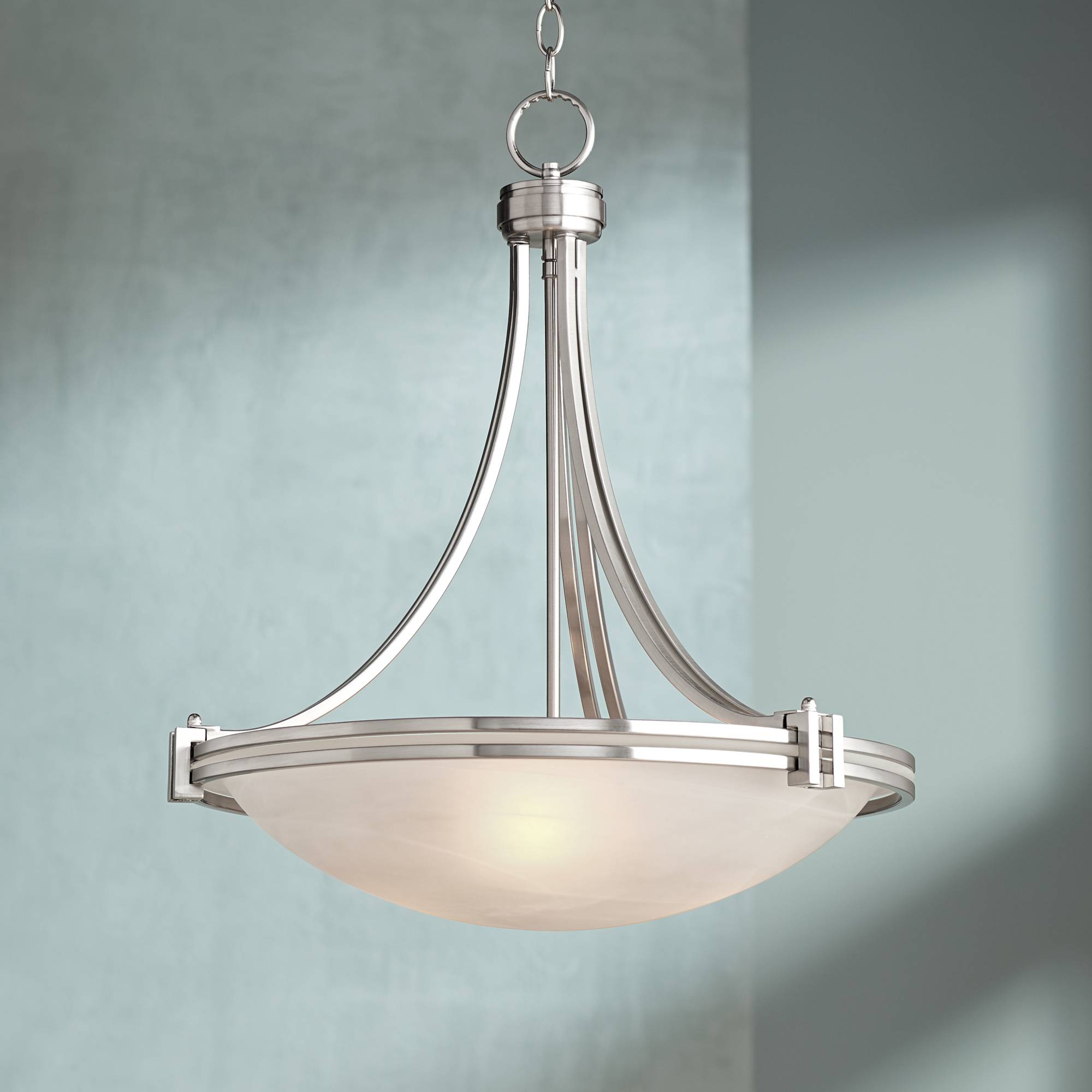 Possini euro design deco nickel 21 1 2 wide pendant light