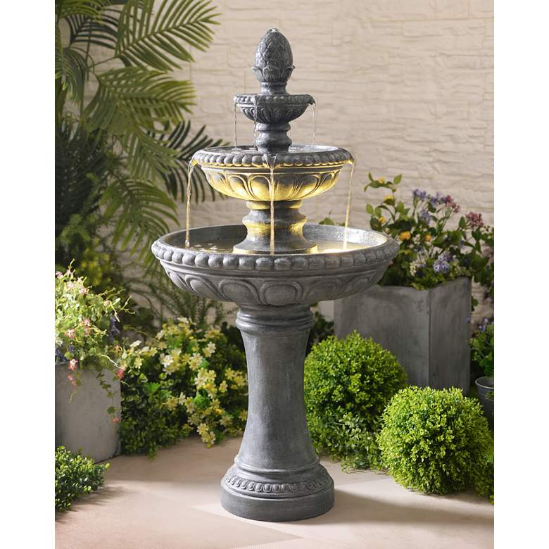"Kenroy Home Tucson 46"" High Zinc 3-Tier LED"