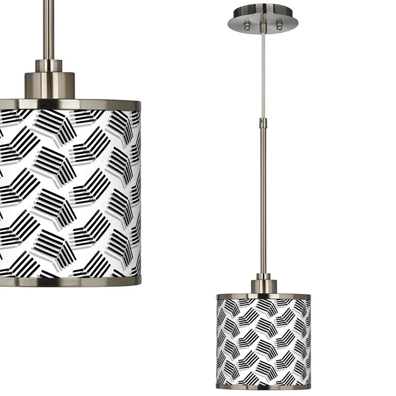 Abstract Angles Giclee Glow Mini Pendant Light