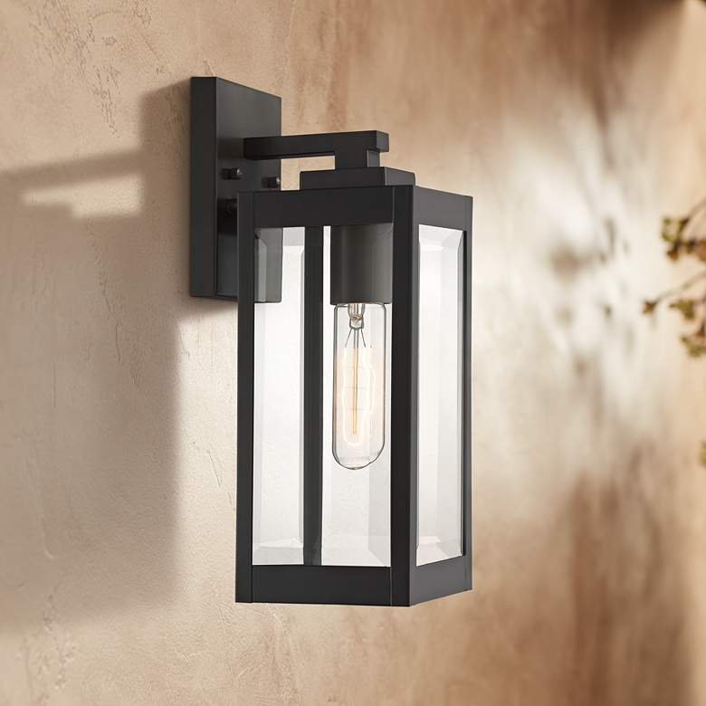 "Quoizel Westover 14 1/4"" High Bronze Outdoor Wall Light"