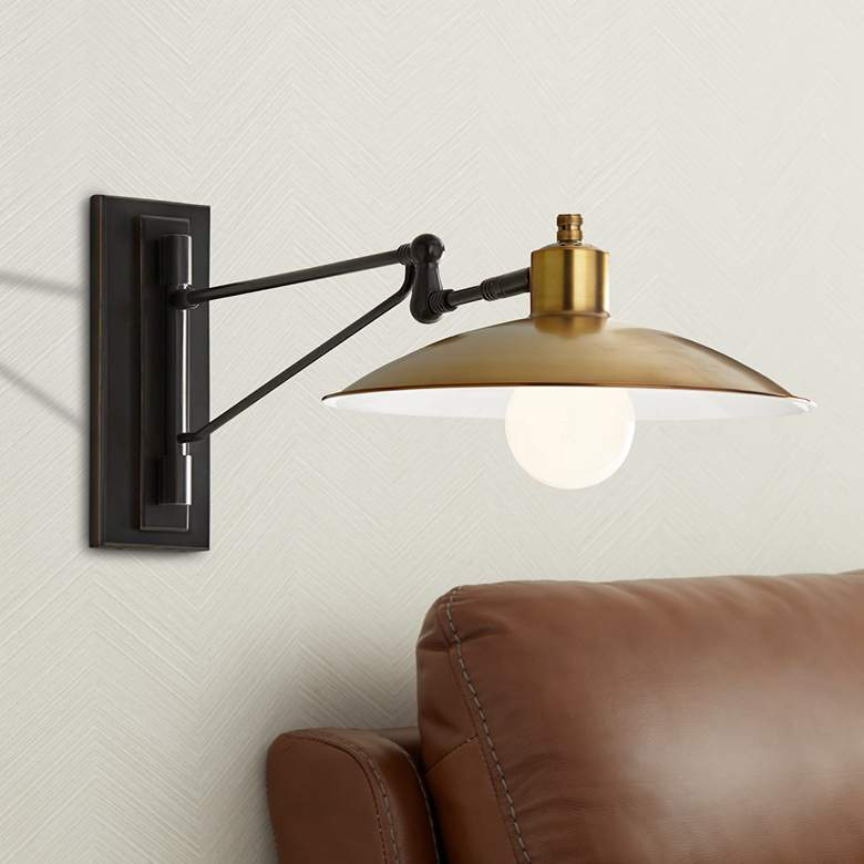 Arteriors Home Nox Antique Brass Swing Arm Wall