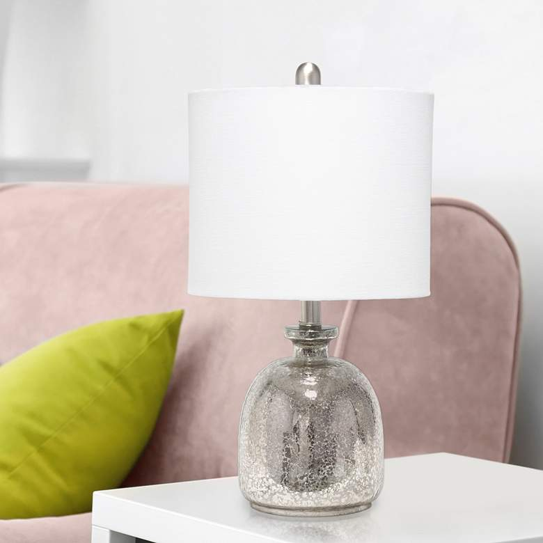 Lalia Home Mercury Hammered Glass Jar Accent Table Lamp