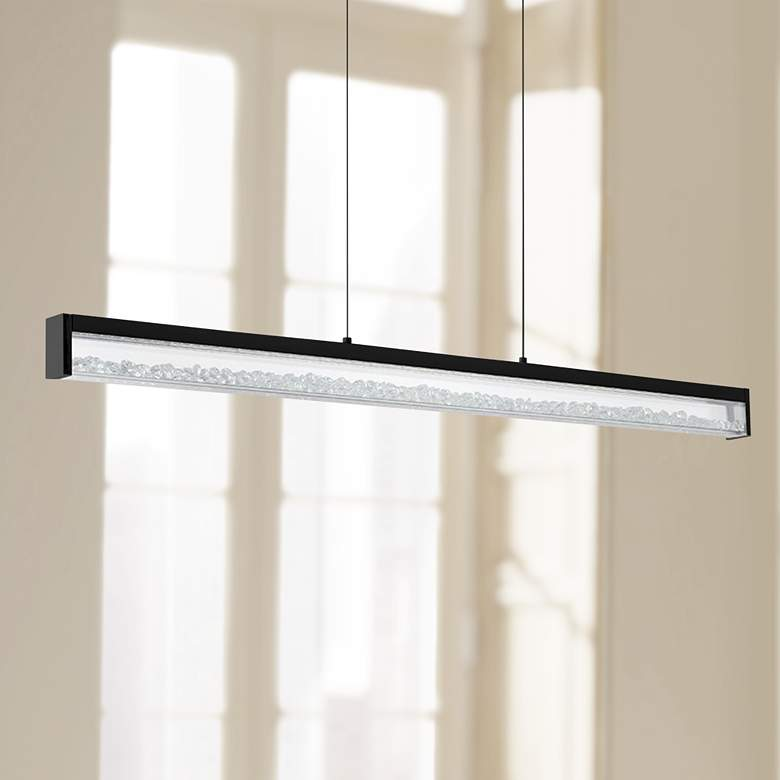 "Eglo Cardito 5"" Wide Matte Black LED Pendant"