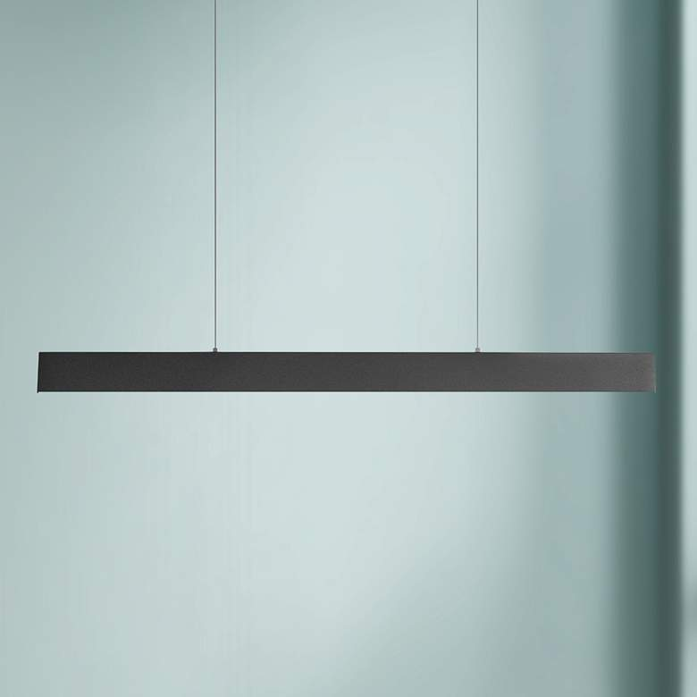 "Eglo Climene 4"" Wide Matte Black LED Pendant"