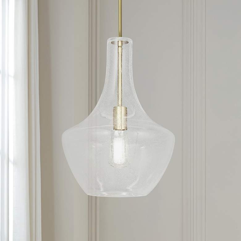 "Fusion™ Harlow 12"" Wide Brushed Brass Mini Pendant"