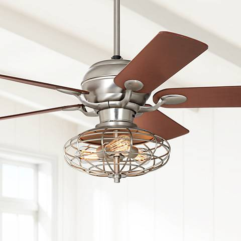 "52"" Casa Optima™ Brushed Steel Ceiling Fan"
