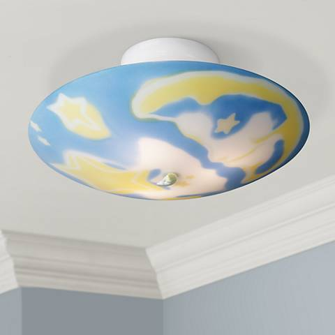 "Celestial Glow-In-The-Dark 17"" Wide Ceiling Light Fixture"