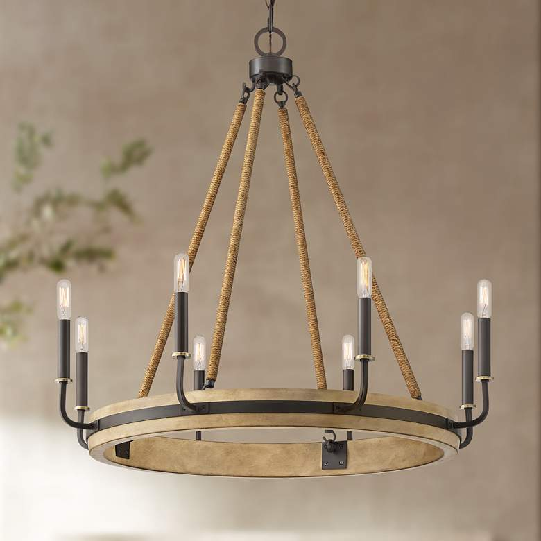 "Quoizel Kearney 31 1/4""W Western Bronze 8-Light Chandelier"