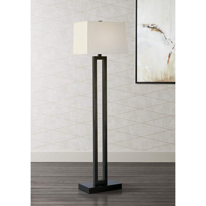 Robert Abbey Doughnut Collection Bronze Floor Lamp