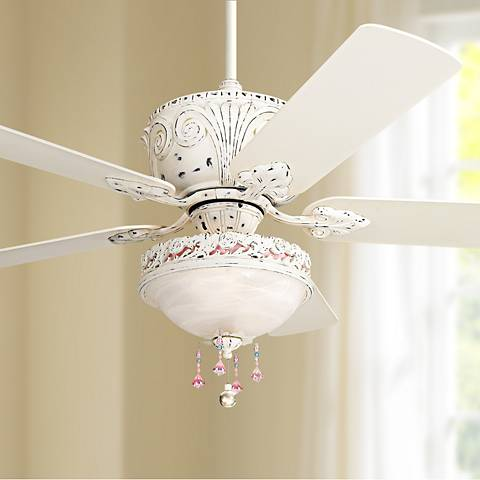 52 Quot Casa Deville Antique White Light Kit Ceiling Fan