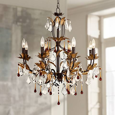 "Kathy Ireland Venezia Gold 8-Light 26"" Wide Chandelier"