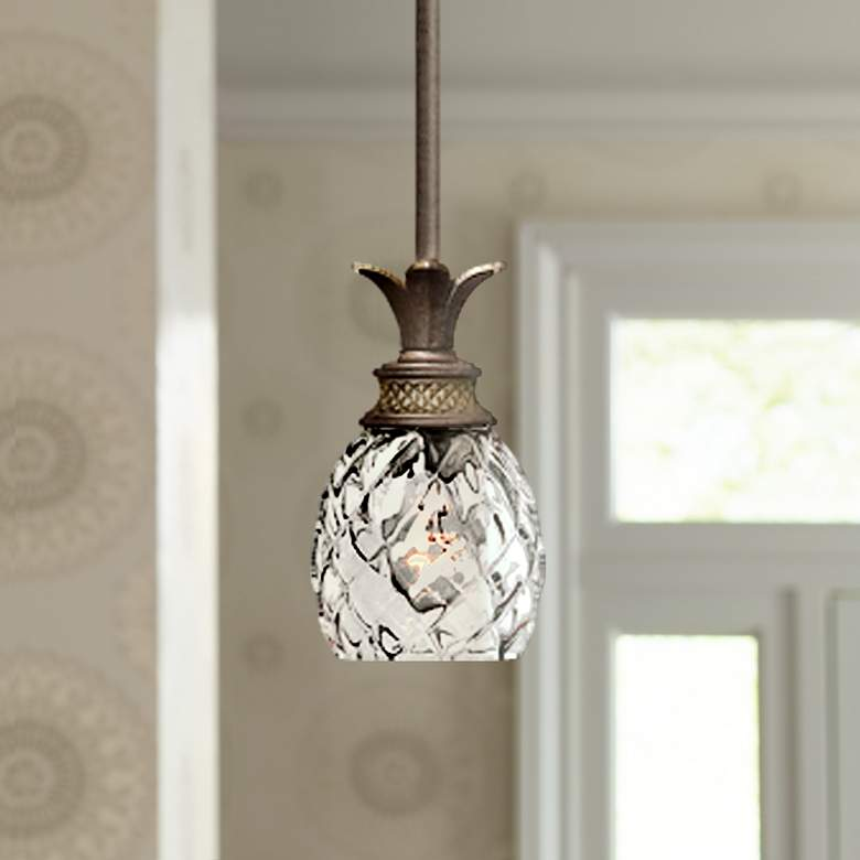 "Hinkley Pineapple Plantation 5"" Wide One Light Mini Pendant"