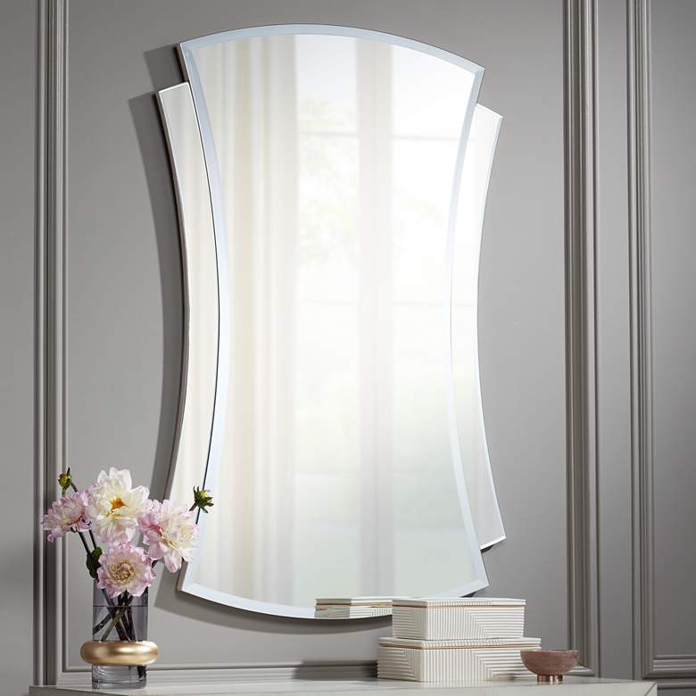 "Stella Frameless 28"" x 42"" Rectangular Wall Mirror"