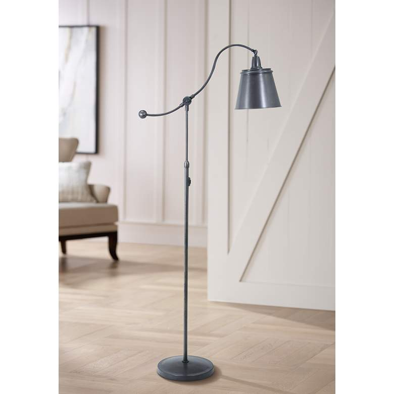 House of Troy Hyde Park Downbridge Bronze Floor Lamp