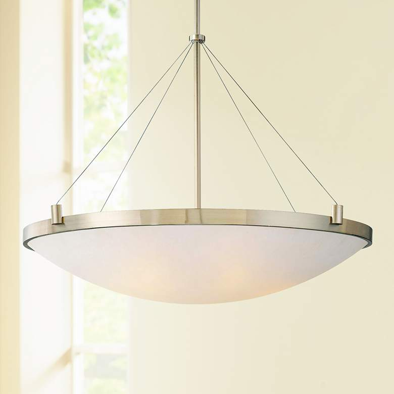 "George Kovacs Frosted Glass 34 1/2"" Wide Pendant"