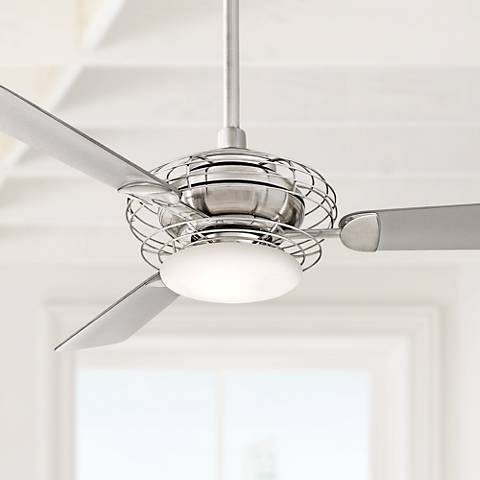50 modern fan lapa bright nickel ceiling fan j3942 lamps plus 52 minka aire acero steel and nickel ceiling aloadofball Choice Image