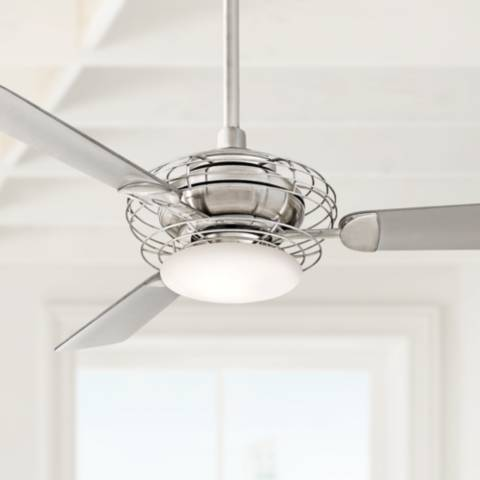 52 Quot Minka Aire Acero Steel And Nickel Ceiling Fan 88506 Lamps Plus