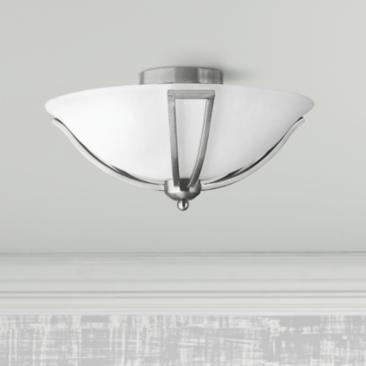 "Hinkley Bolla 16 3/4"" Wide Brushed Nickel Ceiling Light"