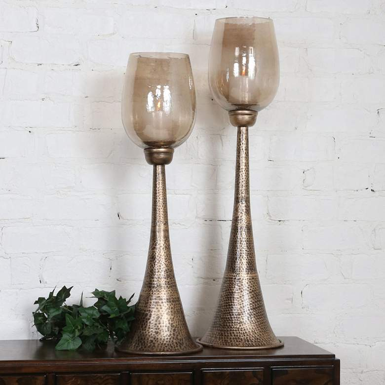 Uttermost Badal Antiqued Gold Votive Candle Holders Set of 2