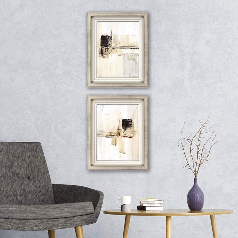 "Electrical Grid 31"" High 2-Piece Framed Giclee Wall Art"