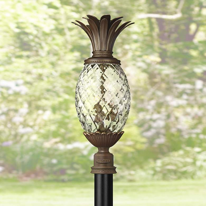 "Hinkley Plantation 25"" High Copper Bronze Outdoor Post Light"