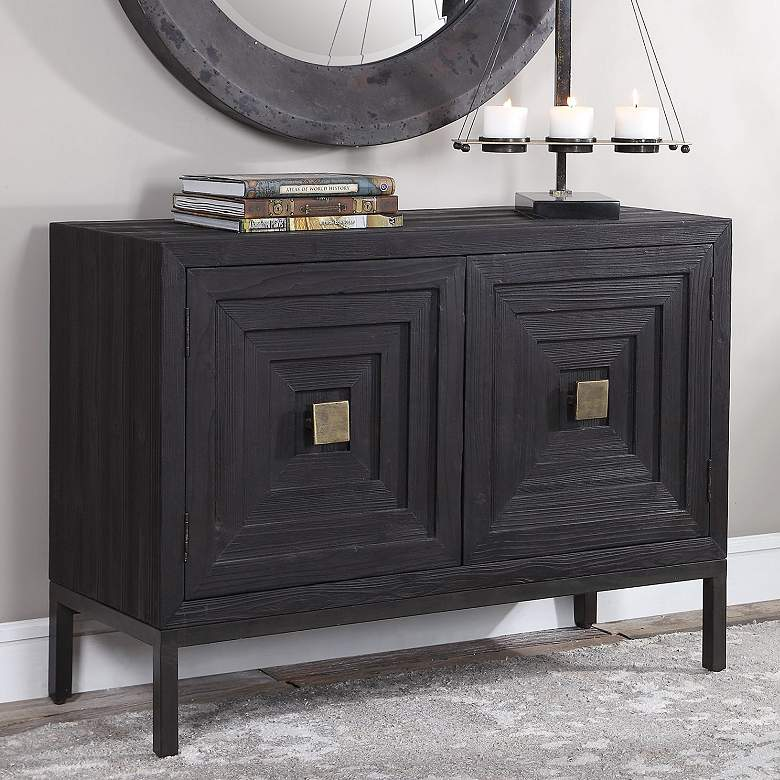"Aiken 43 1/4"" Wide Dark Ebony 2-Door Wood Accent Cabinet"