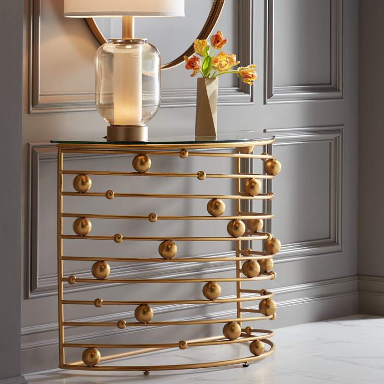"Liam 36 3/4"" Wide Gold Console Table"
