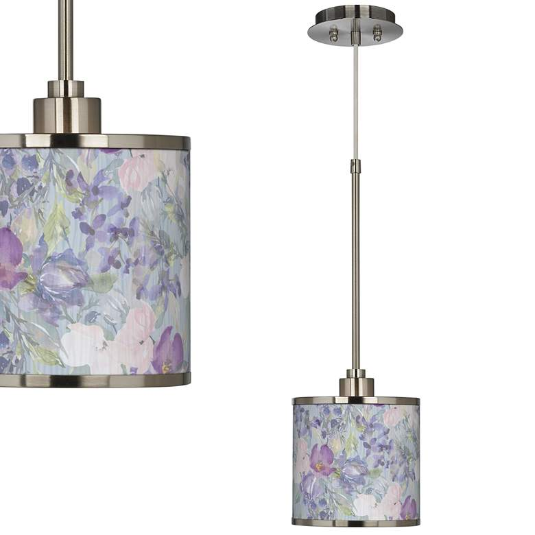 Spring Flowers Giclee Glow Mini Pendant Light