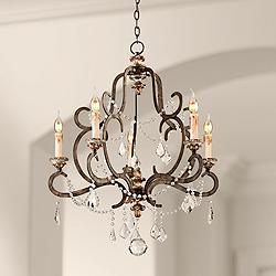 "Bordeaux 27 1/2"" Wide Parisian Bronze Chandelier"