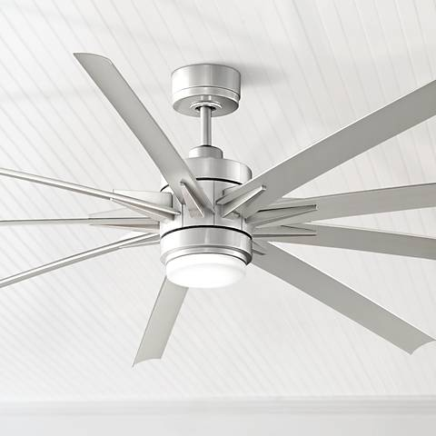 84 odyn brushed nickel led outdoor ceiling fan