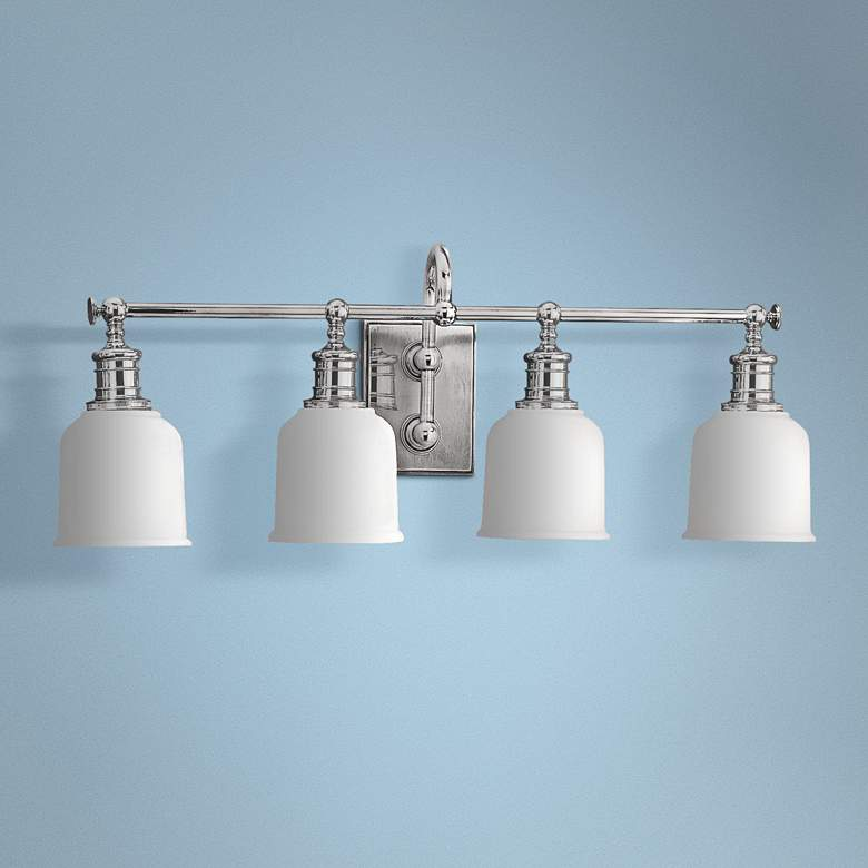 "Hudson Valley Keswick 4-Light 29"" Wide Chrome Bath Light"