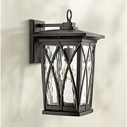 "Quoizel Grover 17 1/2""H Mystic Black Outdoor Wall Light"