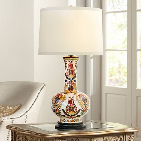 Port 68 Samarkand Floral Porcelain Table Lamp
