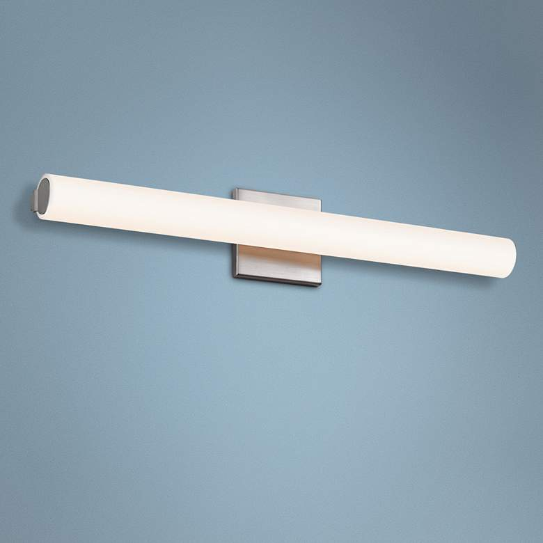 "Sonneman Tubo Slim 24"" Wide Satin Nickel LED Bath Light"