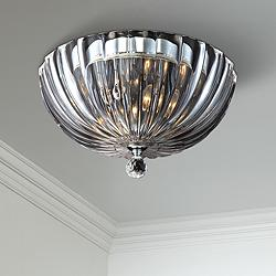 "Eurofase Aurora 11 3/4""W Scalloped Glass Ceiling Light"