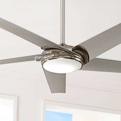 60 minka aire raptor brushed nickel led ceiling fan