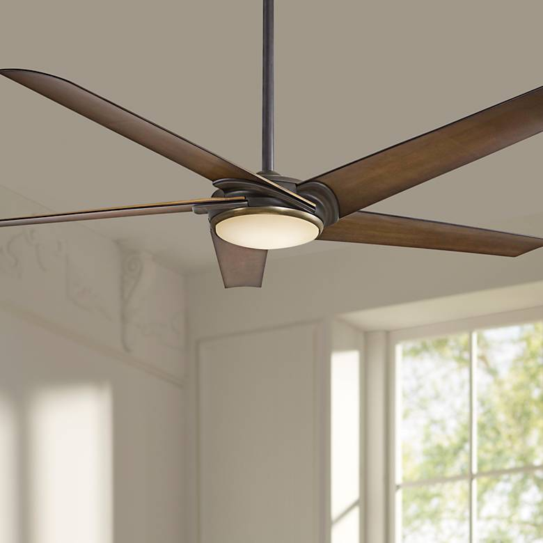 "60"" Minka Aire Raptor Bronze LED Ceiling Fan"