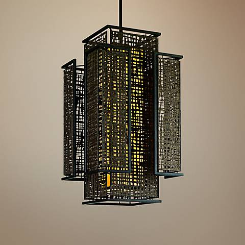 "Corbett Shoji 22"" Wide Bronze 4-Light Entry Pendant Light"