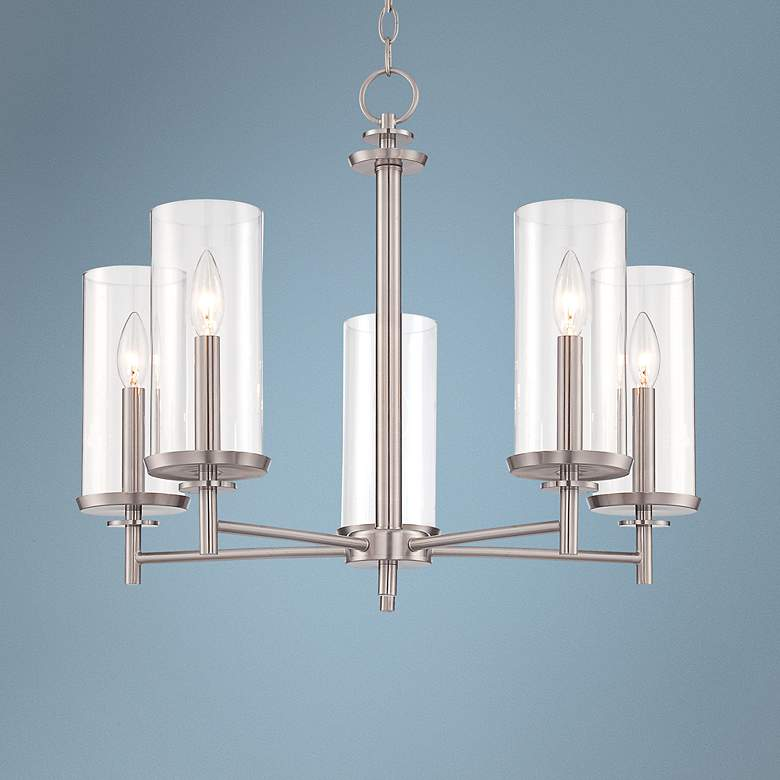 Harlowe Satin Platinum 5-Light Chandelier