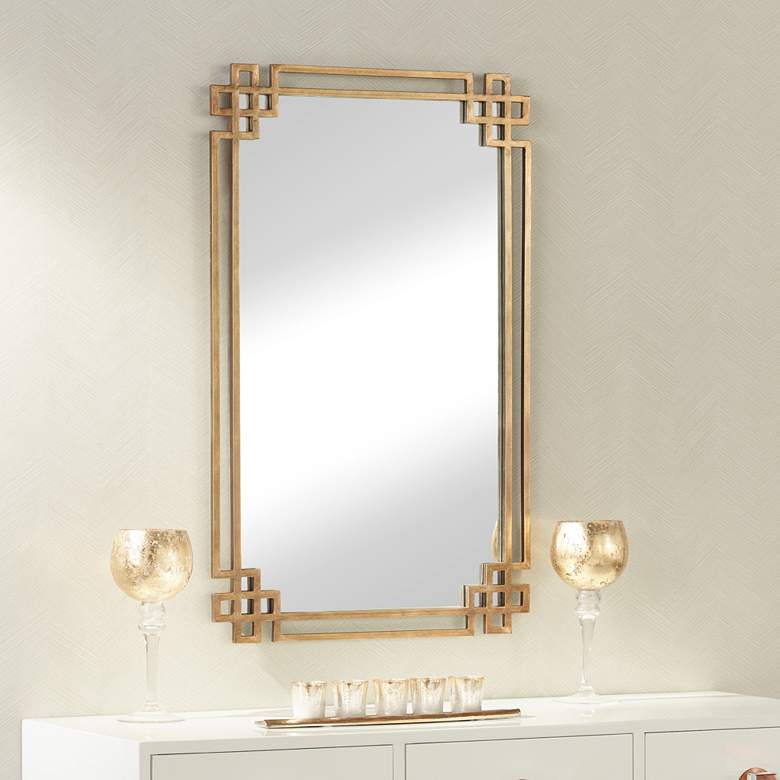 "Uttermost Devoll Gold 23"" x 36 3/4"" Rectangular Wall Mirror"