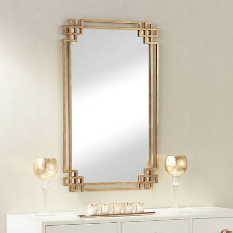 "Devoll Gold 23"" x 36 3/4"" Rectangle Wall Mirror"